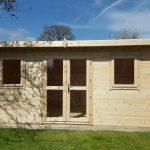 5m x 3.1m pent log cabin