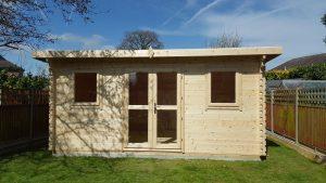 5m x 3.1m pent garden log cabins