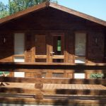 4.5m x 4.5m Apex Front Log Cabin With Bespoke Veranda