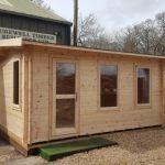 4.8m x 3.1m 70mm Apex Side Log Cabin