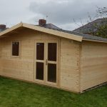 5m x 3.1m Apex Front Log Cabin