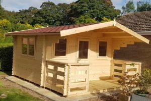 4m x 3.1m log cabins