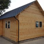 7m x 5m Column Structure Log Cabin Extra High Pitched Roof