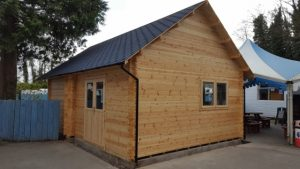 Log Cabins With Extra High Pitched Roof