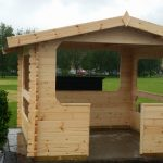 Smoking Shelter Log Cabin