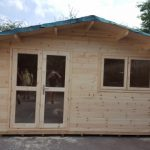 5m x 4m Apex Full Front Log Cabin