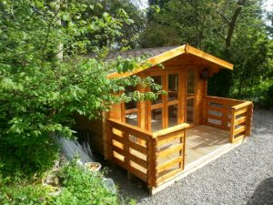 4m x 4m Log Cabin With 1.5m Veranda