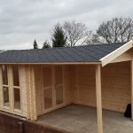 3.1m x 3.1m Log Cabin With Canopy