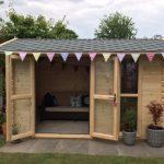 3.6m x 2.4m Apex Side Log Cabin