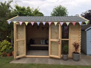 3.6m x 2.4m Apex Side Log Cabins
