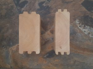 70mm & 44mm Log Cabin Wall Logs Straight Ends