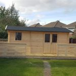 5m x 3.1m Log Cabin With Partition & Bespoke Veranda