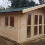 4m x 4m Apex Front Log Cabin