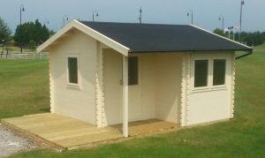 4m x 4m L Shaped Bespoke Log Cabin