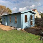 8m x 3.1m 2 room log cabin